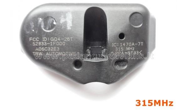 Naudotas TPMS daviklis Honda / Hyundai /Kia 529333E200, 42753-SCV-A010-M1, 42753-SHJ-306, 42753-SHJ-A82, 42753-SHJ-A820-M1, 52933-3E000, 52933-1F000, 218898-107, 17624603, 52933-1F000